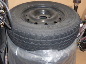 215 70R/16 Winter Tires on Steel Rims for sale