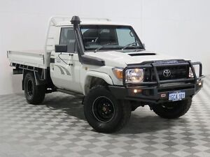 2011 Toyota Landcruiser VDJ79R 09 Upgrade Workmate (4x4) White 5 Speed Manual Cab Chassis East Rockingham Rockingham Area Preview