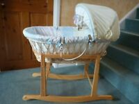 Mothercare Wicker Moses Basket & Rocking Stand