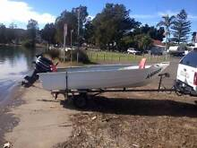 Clark Cutter 12ft Tinny with 12ft Jawar galvanised trailer Marmong Point Lake Macquarie Area Preview