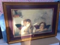 Framed print of Cherubs from the Sistine Madonna