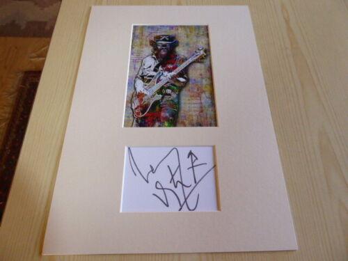 Lemmy Kilmister Motörhead mounted photograph & preprint signed autograph card