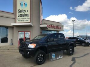 2015 Nissan Titan Pro 4X LIFTED/Nav/Leather/Rims $40987