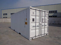 shipping Containers - 20' Open Side with 4 Doors,