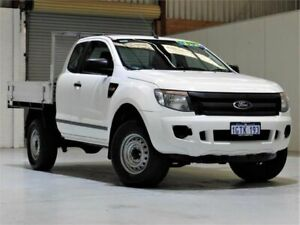 2013 Ford Ranger PX XL Super Cab White 6 Speed Manual Cab Chassis Yangebup Cockburn Area Preview