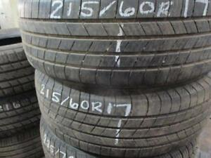 215/60 R17 MICHELIN DEFENDER USED TIRE (SET OF 2) - APPROX. 80% TREAD