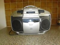 All-in-one FM/AM Radio, CD player, Cassette player and recorder