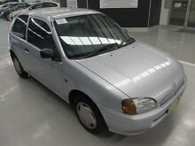 1997 Toyota Starlet EP91R Life Silver 5 Speed Manual Hatchback Maryville Newcastle Area Preview