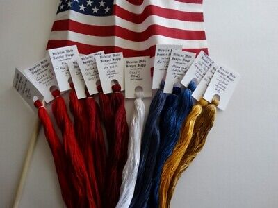 America the Beautiful Collection ,hand dyed floss GIFT BOXED! 12 (20 yd (Hand Dyed Floss)