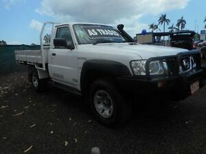 2010 Nissan Patrol GU 6 MY10 ST White 5 Speed Manual Cab Chassis Winnellie Darwin City Preview