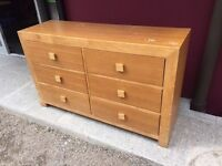 Large oak chest of drawers for upcycling