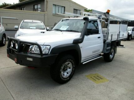 2012 Nissan Patrol Y61 GU 6 SII MY DX White Manual Cab Chassis
