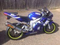 Yamaha R6 with top yoke conversion road or track bike