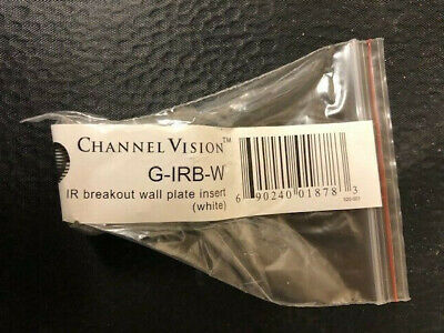 Channel Vision G-IRB-W IR Breakout Wall Plate Insert White Channel Vision Wall Plate