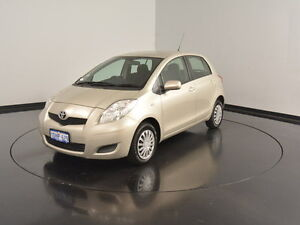 2010 Toyota Yaris NCP90R MY10 YR Gold 5 Speed Manual Hatchback Victoria Park Victoria Park Area Preview