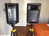 Yamaha PA Stagepas 500 & Stands