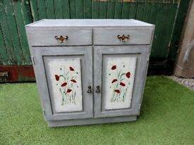 Shabby Chic Sideboard Cupboard Hallway Living Room Upcycled with Poppy