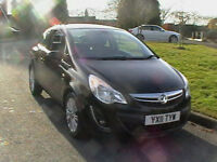 11 REG VAUXHALL CORSA 1.2i 16v A/C SE 3 DOOR HATCHBACK IN BLACK HPI CLEAR
