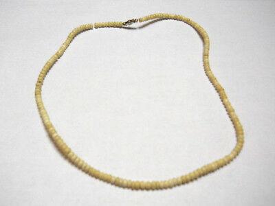 Beach Hawaiian Luau Handcrafted Natural Tan Small Coco Bead Choker Necklace 18