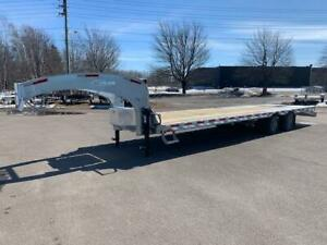 "NEW 2019 K-TRAIL 102"" x 30' GOOSE NECK DECK-OVER TRAILER"