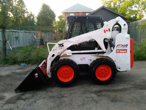 2007 BOBCAT S185 SKIDSTEER WITH SNOW BUCKET AND WINTER CAB