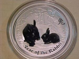 2011 YEAR OF THE RABBIT-PERTH MNT-BU/PROOF-BEAUTIFUL COIN