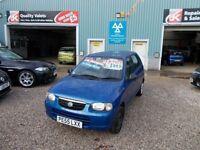 SUZUKI ALTO 1.1 GL 5d 62 BHP very clean car (blue) 2005