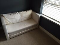 Ikea 2 seater sofa bed in cream for sale - almost new