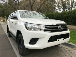 2015 Toyota Hilux GUN126R SR Double Cab White 6 Speed Sports Automatic Cab Chassis Hawthorn Mitcham Area Preview