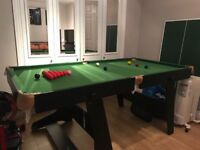 BCE Snooker / Pool Table (Fold Up) - Excellent condition, rarely used. 5ft x 2ft (1.6m x 0.9m)