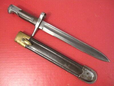 pre-WWI Italy Italian M.1870 Bayonet w/Scabbard for1870/87 Vetterli-Vitali Rifle