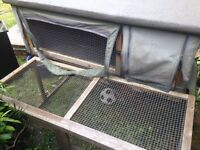 Rabbits Cage with Attached Run (FREE TO COLLECTOR)