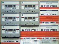JL CHEAPEST ONLINE 5x RARE TDK D 120 D120 CASSETTE TAPES 1979-1981 W/ CARDS CASES LABELS ALL VGC