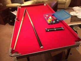 fold down pool table for boy age 9-12 yrs