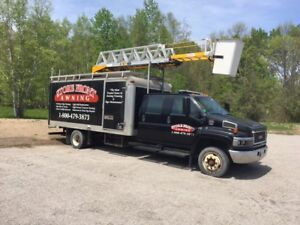 Sign Truck / Bucket truck - RH ladder with 60 ft reach w/16' box