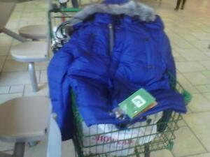 SAVE NOW $$$ ON BRAND (2) NEW BLUE DOWN JACKETS Kitchener / Waterloo Kitchener Area image 2