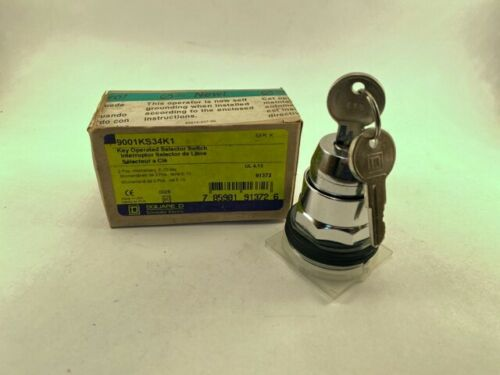 Square D 9001KS34K1 Key Operated Selector Switch, New