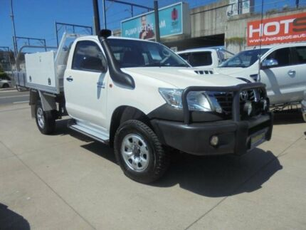 2012 Toyota Hilux KUN26R MY12 SR White 4 Speed Automatic 2D Cab Chassis Granville Parramatta Area Preview
