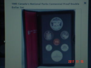 1985 CANADA PROOF DOUBLE DOLLAR 7 COIN SET.