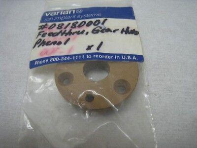 Varian 08180001 feed thru, gear hub Phenol