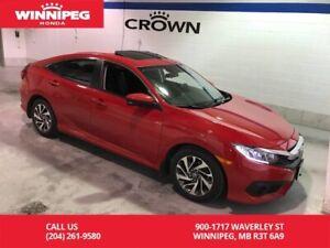 2017 Honda Civic Sedan EX/Heated seats/Sunroof/Honda sensing