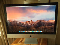 Apple iMac 27' Intel quad core i7-3.4GHz 16GB RAM, 2TB HDD, 250GB SDD, OSX Sierra, MS Office 2016Pro