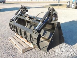 "HLA 84"" Standard SSL Bucket with Utility Grapple - Skid Steer"