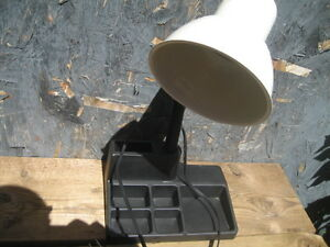 desk lamp with tray. Height 17 inches. $9