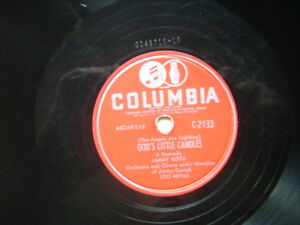 JIMMY BOYD LOST 78 RPM COLUMBIA GODS LITTLE CANDLES  OWL LULLABY