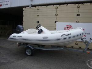 2011 bateau pneumatique Brig 12' console 50hp gonflable dinghy