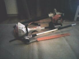 STIHL KM 56 RC Multi-tool with hedge trimmer arrachment