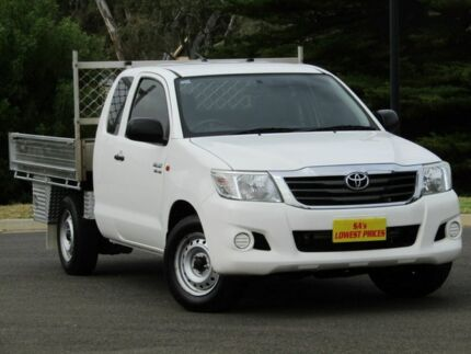 2012 Toyota Hilux GGN15R MY12 SR Xtra Cab White 5 Speed Automatic Utility Strathalbyn Alexandrina Area Preview