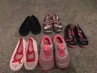 Girls bundle size 10 Shoes, trainers for summer (Nike,Mothercare etc)
