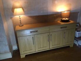 Stylish light wood sideboard